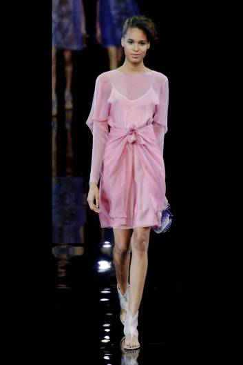 { Giorgio Armani Spring 2014 Collection Runway Show - Photo Credit: HarpersBazaar }