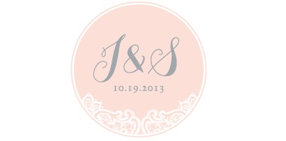 { Make it yours. Sure, we were not the first couple to ever have a vintage-inspired wedding, but with some personalization and special elements - we made it ours. Here is a logo we had created for our big day.  }